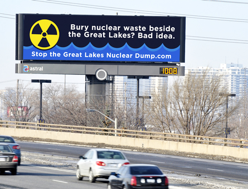 Stop The Great Lakes Nuclear Dump Billboard