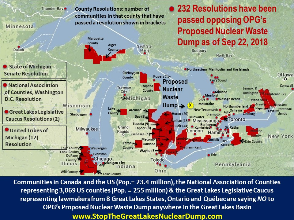 STOP OPGs Planned Lake Huron Radioactive Nuclear Waste Dump - Map of nuclear waste sites in us